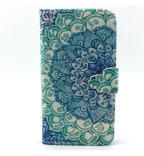 Galaxy CORE LTE case wallet leather case printed