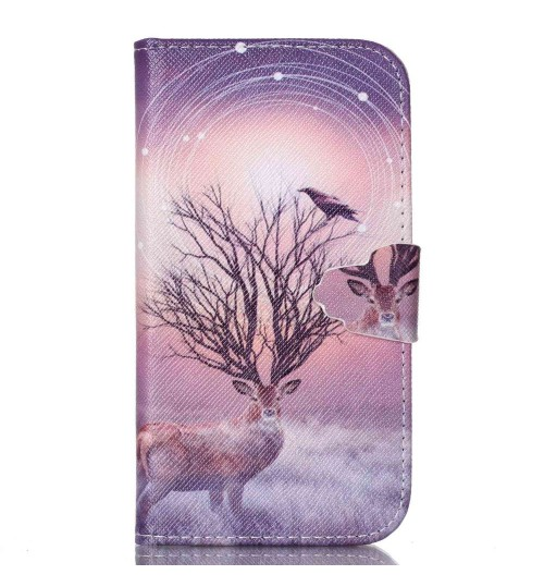 Galaxy S4 Mini case wallet leather case printed