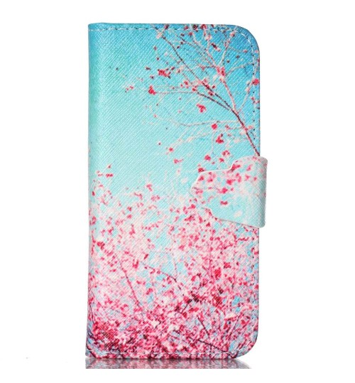 iPhone 5c case wallet leather case printed