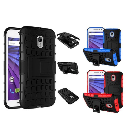 Moto G 3 Case  HV Duty KickStand case+Pen