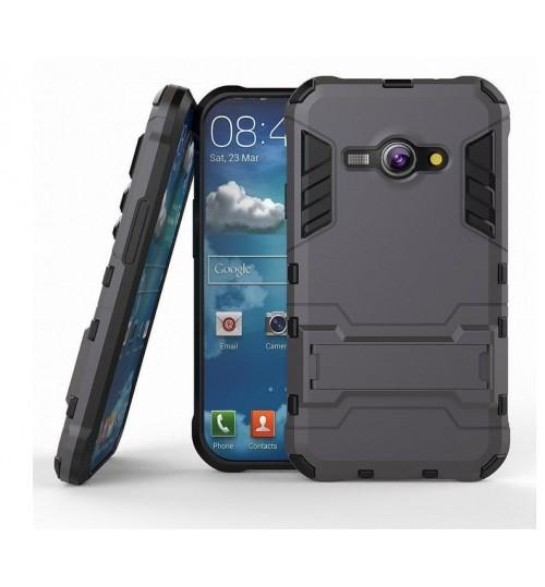 Galaxy J1 ACE Case Heavy Duty Hybrid Kickstand