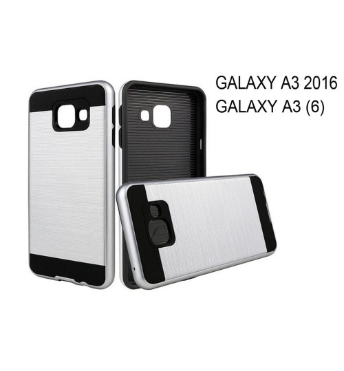 Galaxy A3 2016 A310 impact proof case brush metal