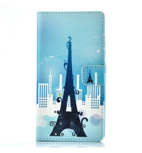 Huawei P9 lite case wallet leather case printed