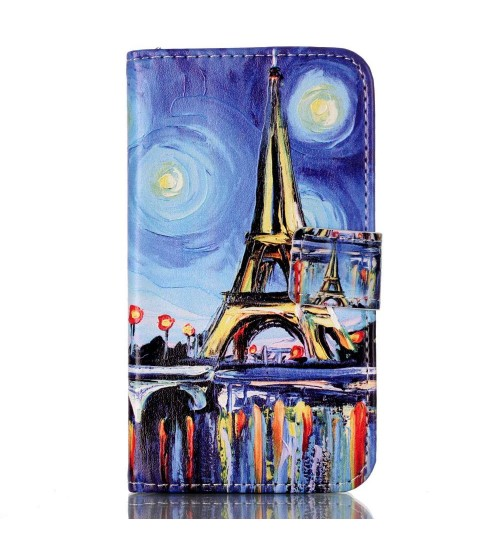 Galaxy Core Prime case wallet leather case printed