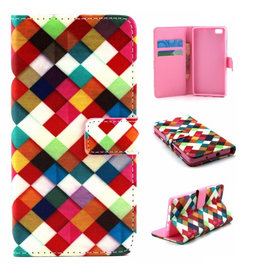 Huawei P8 case wallet leather case printed