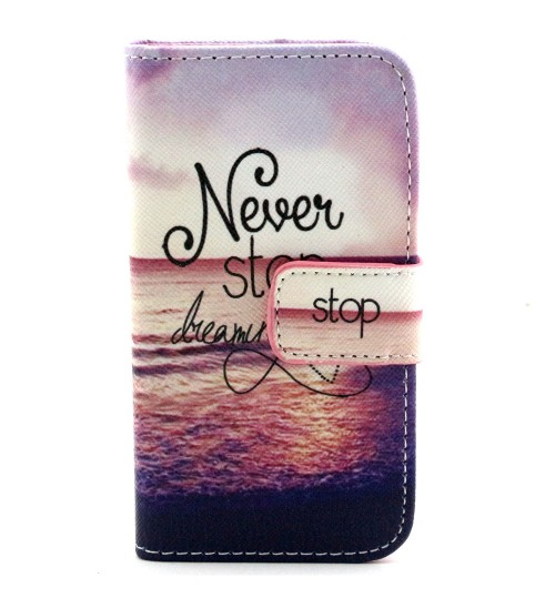 iPhone 4 4s case wallet leather case printed