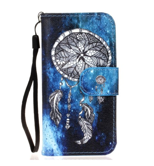 iPhone 5 5s SE case wallet leather case printed