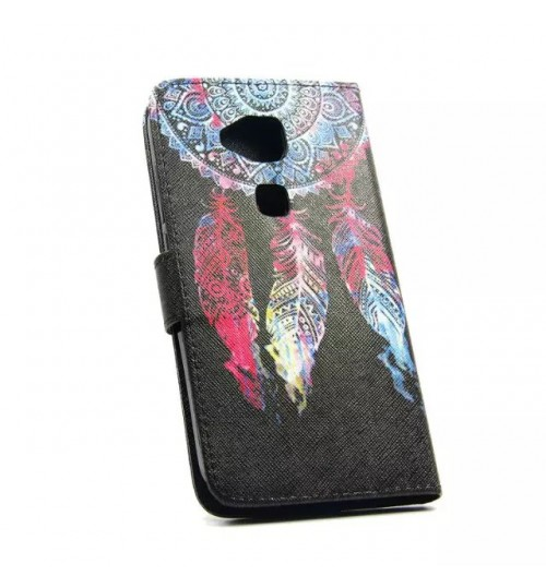 Huawei G8 case wallet leather case printed