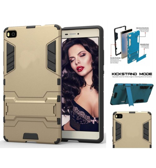 Huawei P8 Case Heavy Duty Hybrid Kickstand Cover