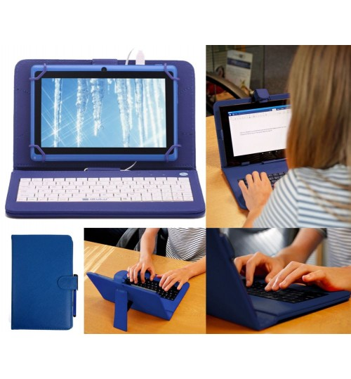 7 inch universal tablet case with keyboard+Gifts