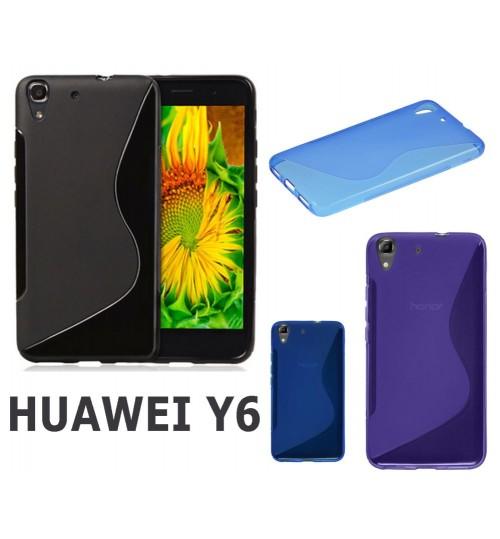 HUAWEI Y6 case TPU Soft Gel Case+Combo