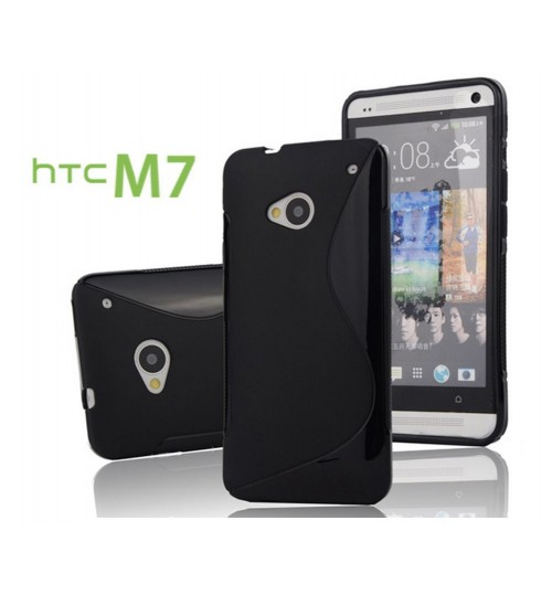 HTC ONE M7 case TPU Soft Gel Case