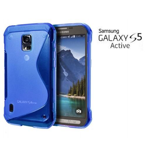 Samsung Galaxy S5 ACTIVE case TPU Soft Gel Case