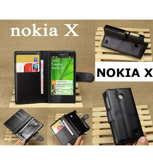 Microsoft Nokia X Wallet Leather Case