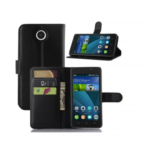 Huawei Y635 wallet leather case+combo