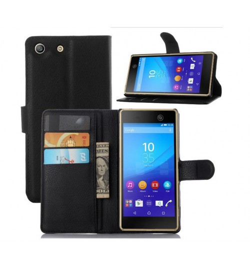 Sony Xperia M5 Wallet leather cover+Pen