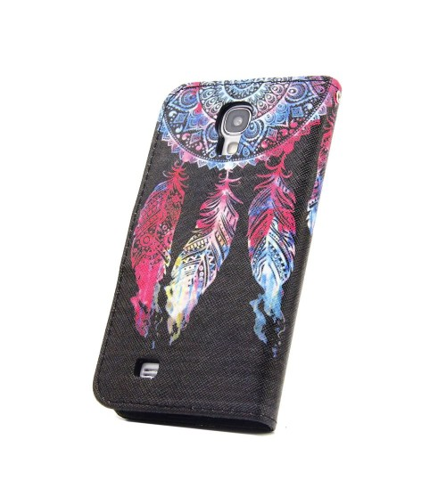Galaxy S4 case wallet leather case printed