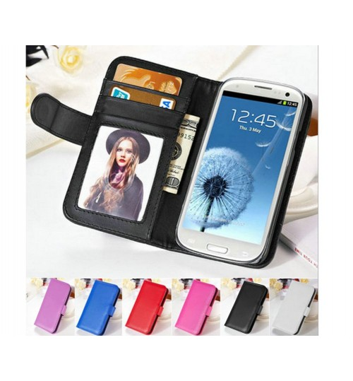 Galaxy s3 I9300 wallet leather ID card case