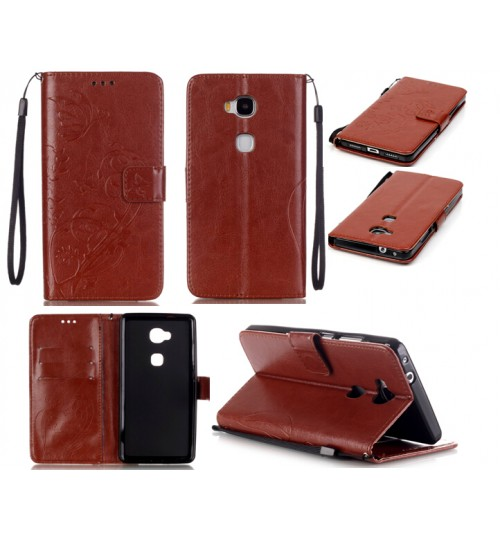 HUAWEI Honor 5X case HUAWEI GR5 case Premium Embossing wallet leather case