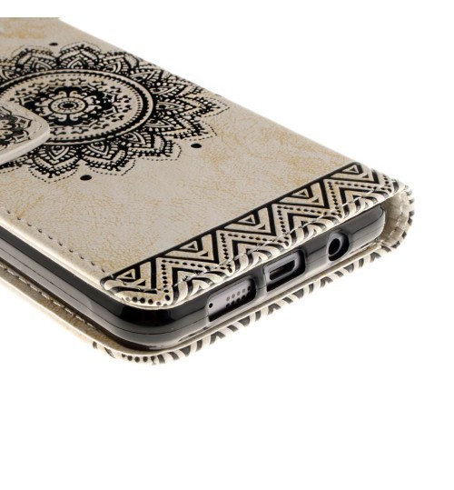 Galaxy A3 2016 printed ID wallet leather case