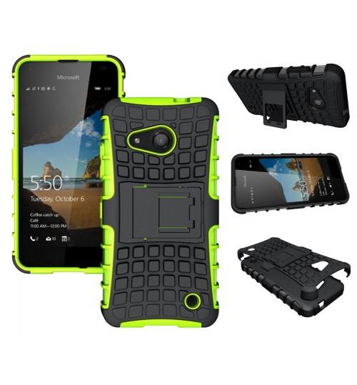 Microsoft Lumia 550 Case Heavy Duty Kickstand case