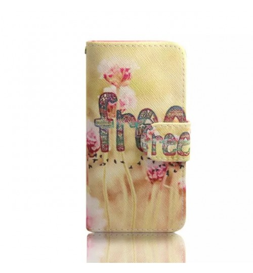 HTC M9 case wallet leather case printed