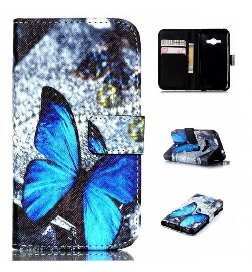 Galaxy J1 ACE case wallet leather case printed