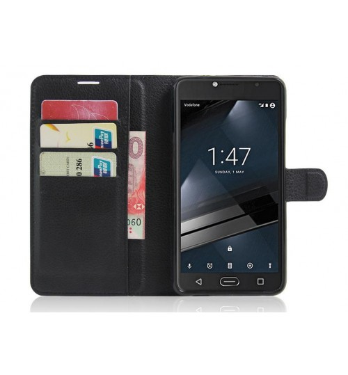 Vodafone Smart Ultra 7 wallet leather case+Pen