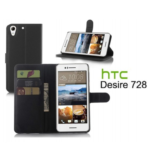 HTC Desire 728 wallet leather case