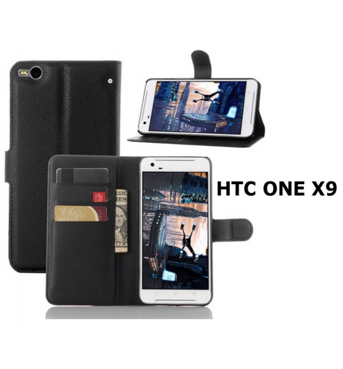 HTC One X9  leather  wallet case cover