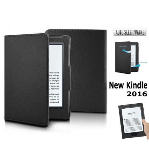NEW Kindle 2016 Kindle 8th ultra slim leather smart case