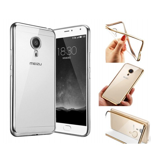 MEIZU M3 Note case plating bumper with clear gel back cover case