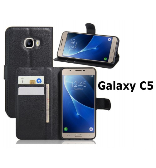 Samsung Galaxy C5 case wallet leather case