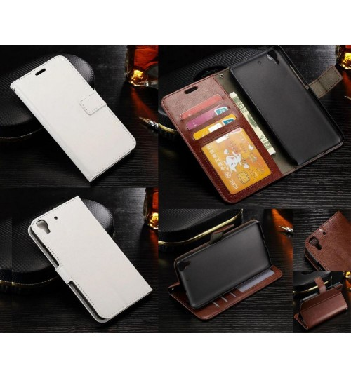 Huawei Y6 vintage fine leather wallet case