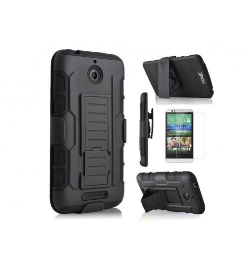 HTC 510 Hybrid armor Case+Belt Clip Holster DESIRE 510