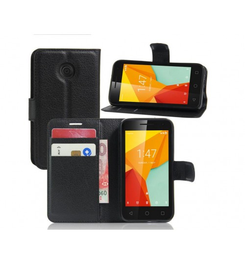 Vodafone Smart Mini 7 wallet leather case+Pen