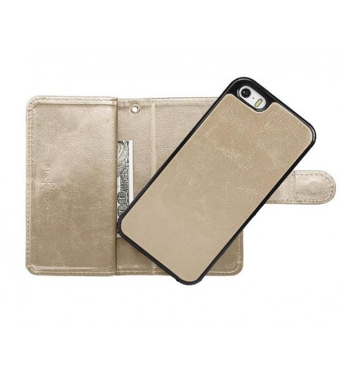 iPhone 5 5s se detachable wallet leather case