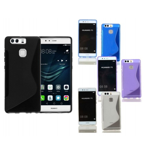 Huawei P9 PLUS case TPU gel cover S line+Combo