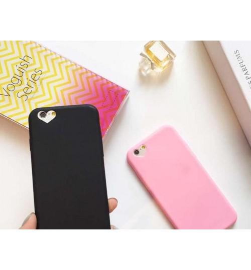 iPhone 6 Plus 6S Plus TPU case heart style camera hole Soft Gel Ultra Thin  case