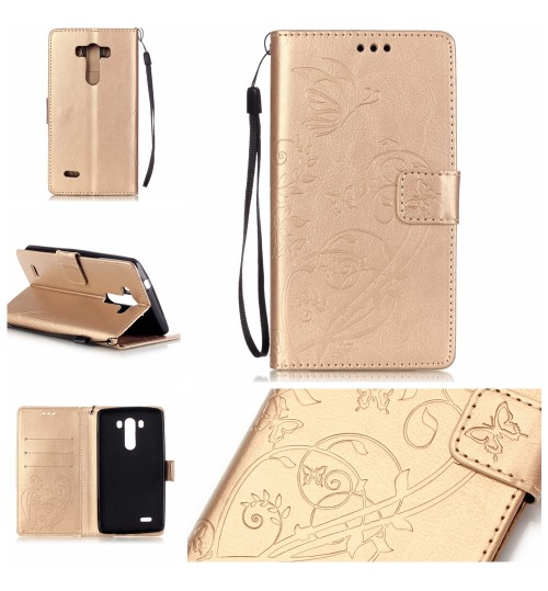 LG G3 Case Premium leather Embossing wallet folio case
