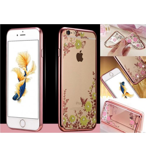 iPhone 6 6s soft gel tpu case luxury bling shiny floral case