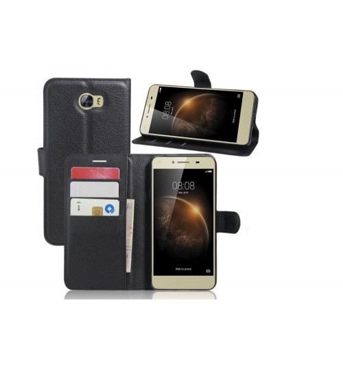 Huawei Y6 Elite case  Y5 II wallet leather case cover