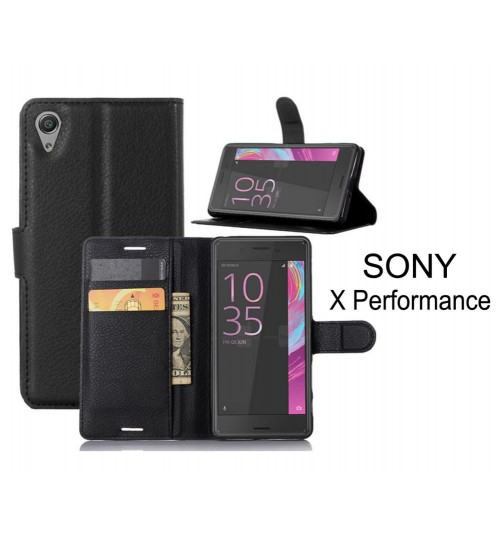 Sony X Performance wallet leather flip case cover