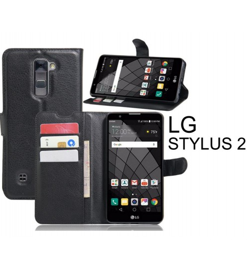 LG Stylus 2 case wallet leather flip case cover