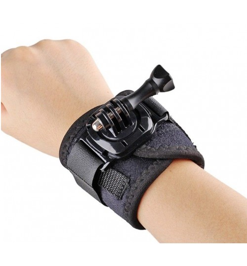Arm Band Wrist Mount 360° Rotation Wrist Arm Strap Band compatible with GOPRO