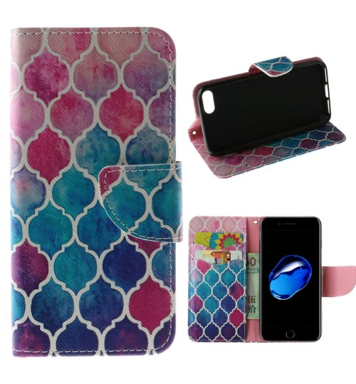 iPhone 7 case wallet leather card holder cover case printed leather