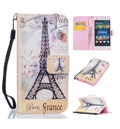 Huawe P8 LITE case wallet leather case printed