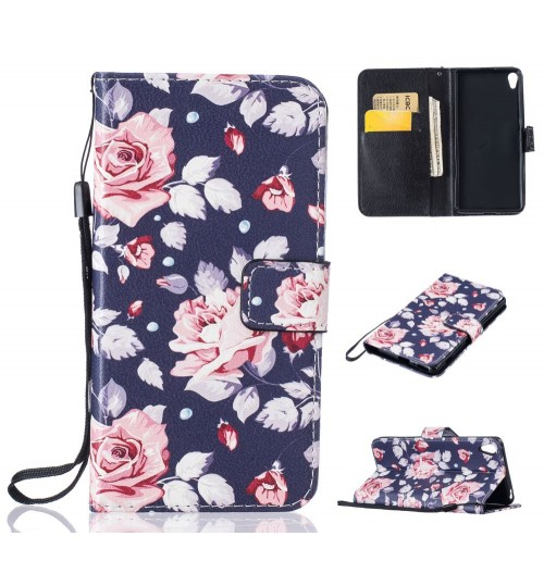 Sony Xperia XA case wallet leather case printed