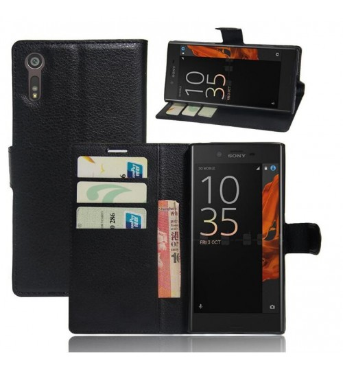 Sony Xperia XZ case wallet leather case
