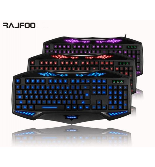 Gaming Keyboard with 3 Colour Backlight